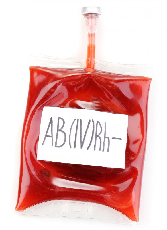 A Pouch Of AB Blood Which Is The Rarest Type