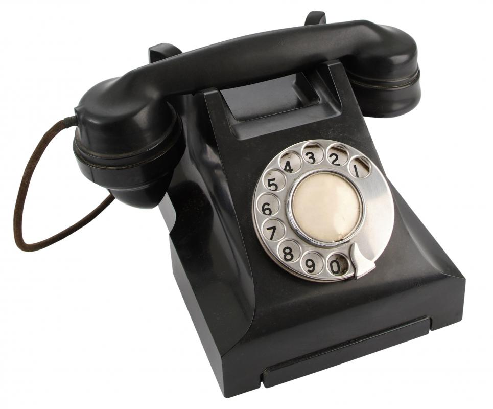 Antique Black Telephone on Miscellaneous Antique Telephones