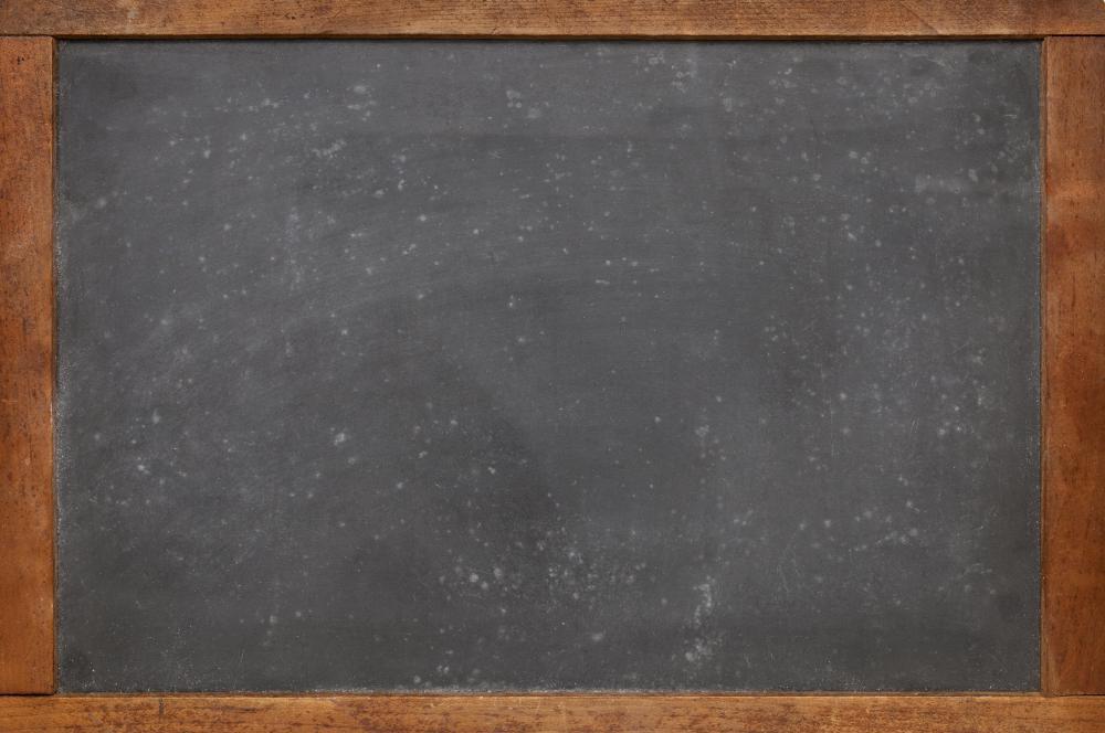 Old Fashioned Black School Chalkboard
