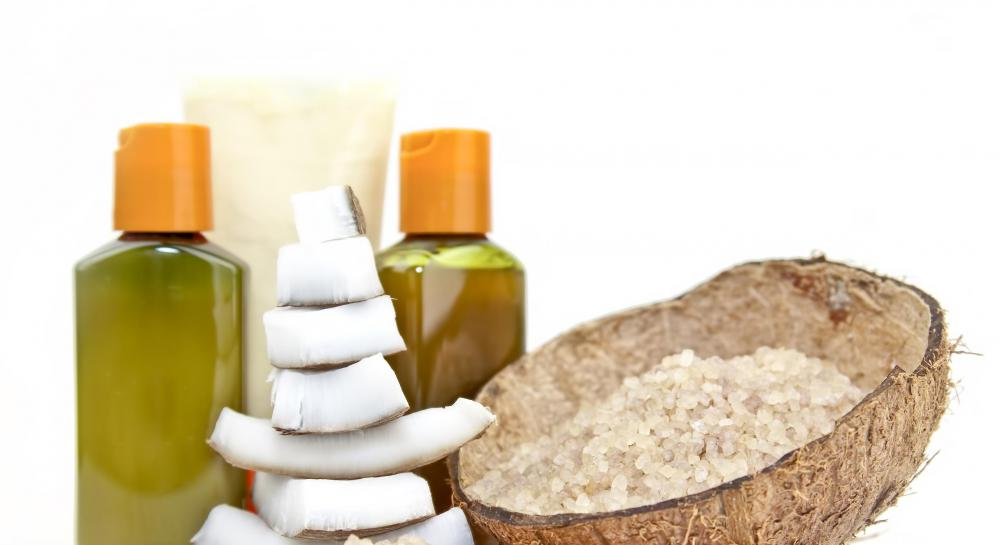 Coconut oil can be used for skin or hair treatments.