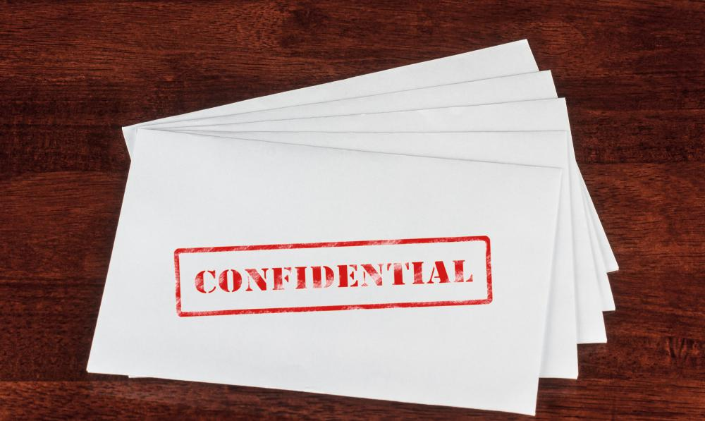 What is a Confidential Letter? (with pictures)