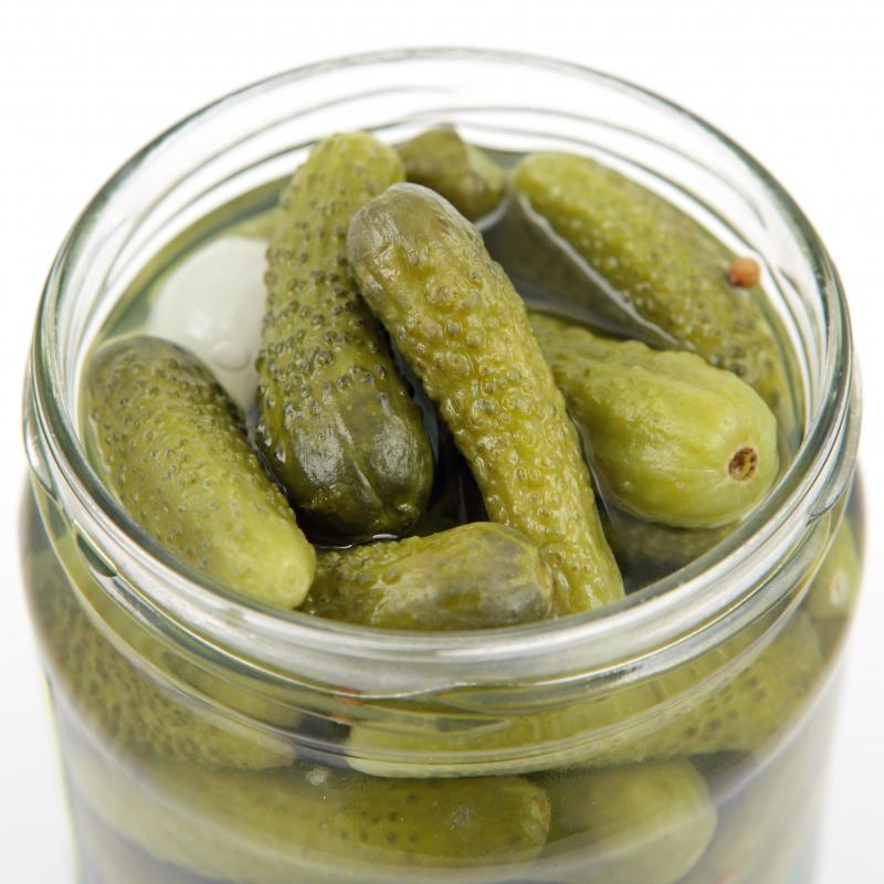 Cornichons are usually served as an accompaniment to goujons.