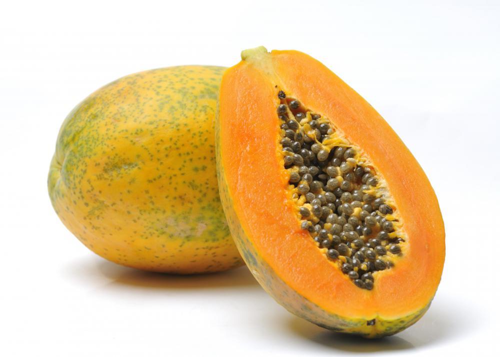 A papaya.