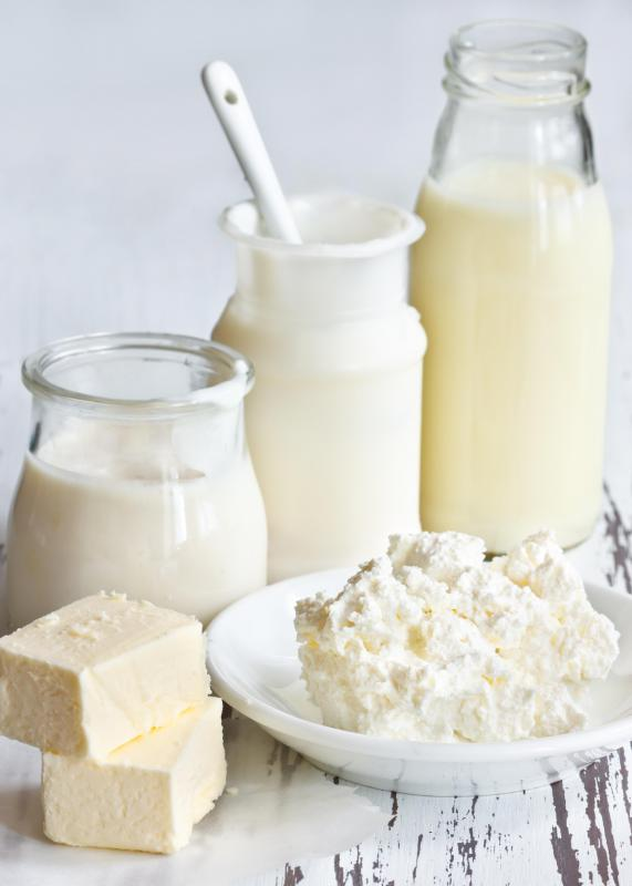 Calcium propionate is found naturally in milk products.