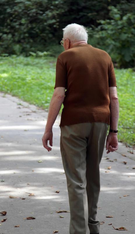 elderly man walking - photo #14