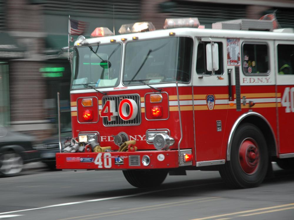 A fire truck.