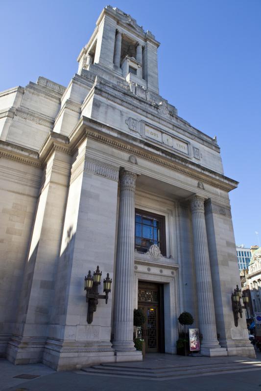 A Freemason hall in London, England.