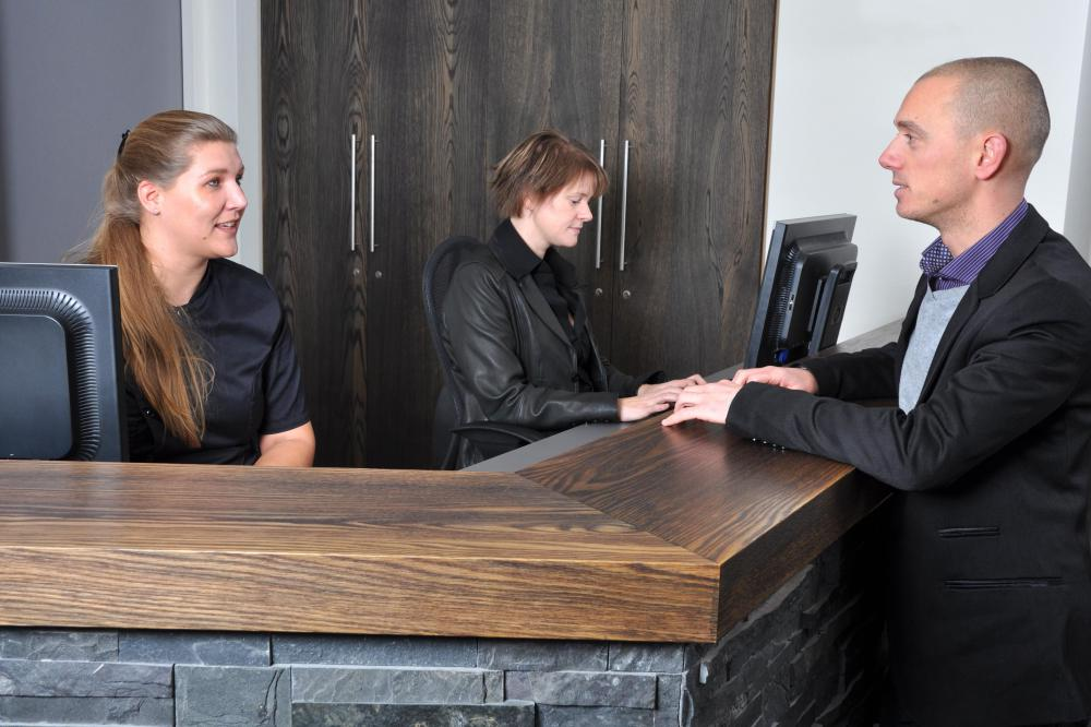 Some Desk Clerks Work In Hotels