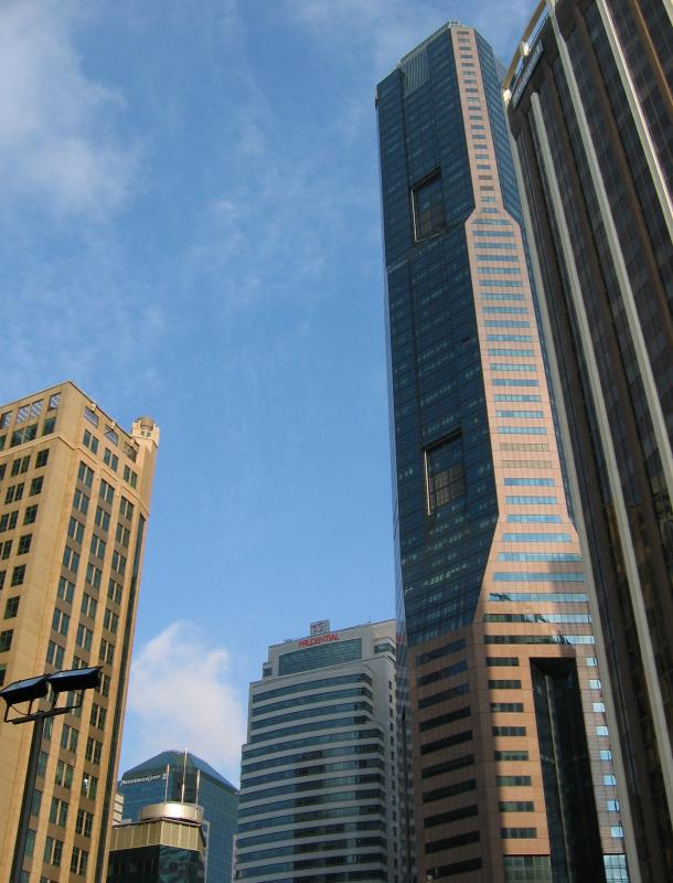 skyscrapers are built on a frame of steel beams and columns