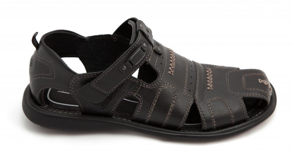 Womens walking sandals black