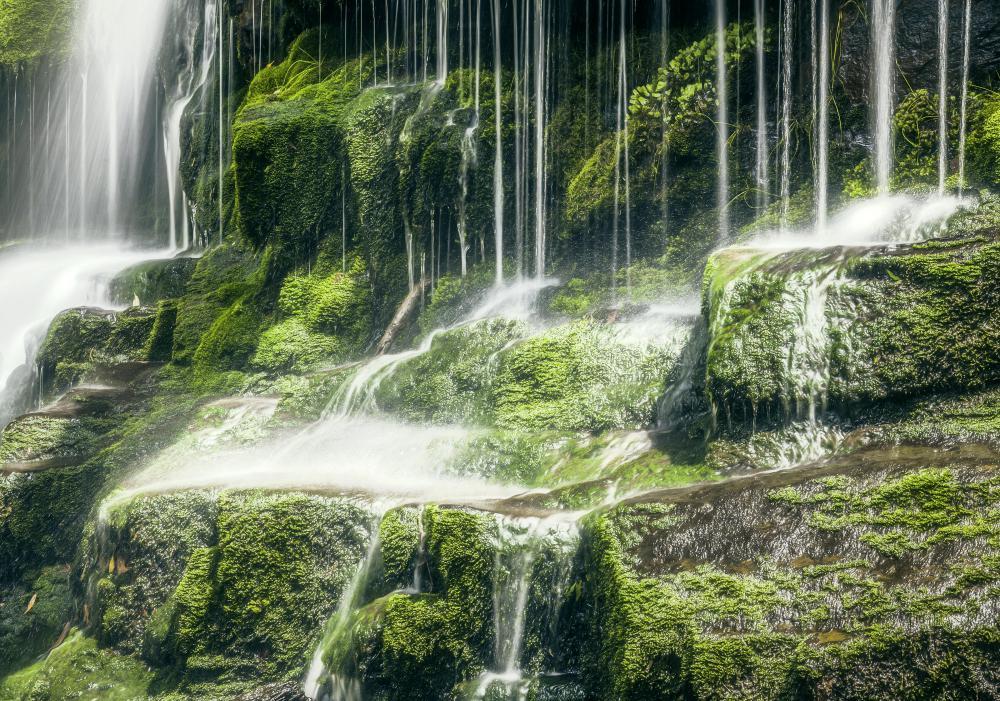 A natural waterfall.