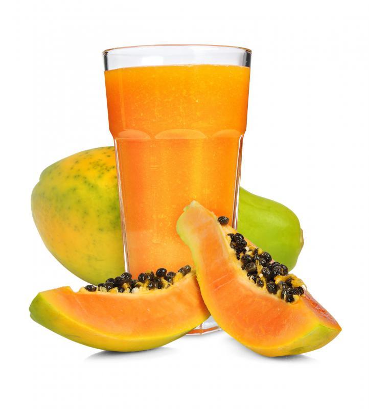 Papaya juice is used in a papaya sling.