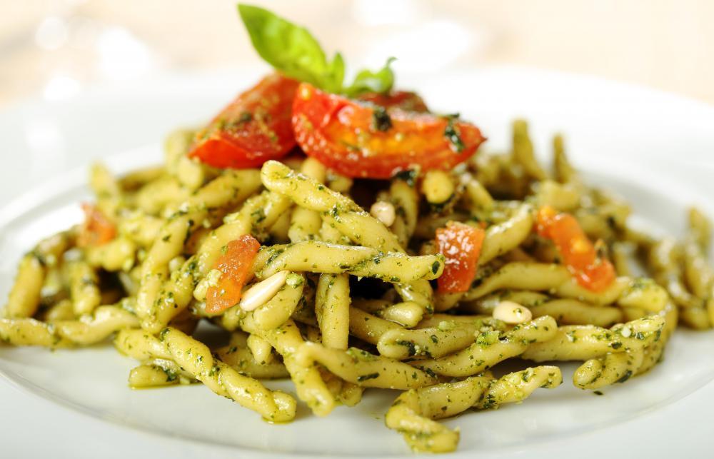 Recipes of different pastas