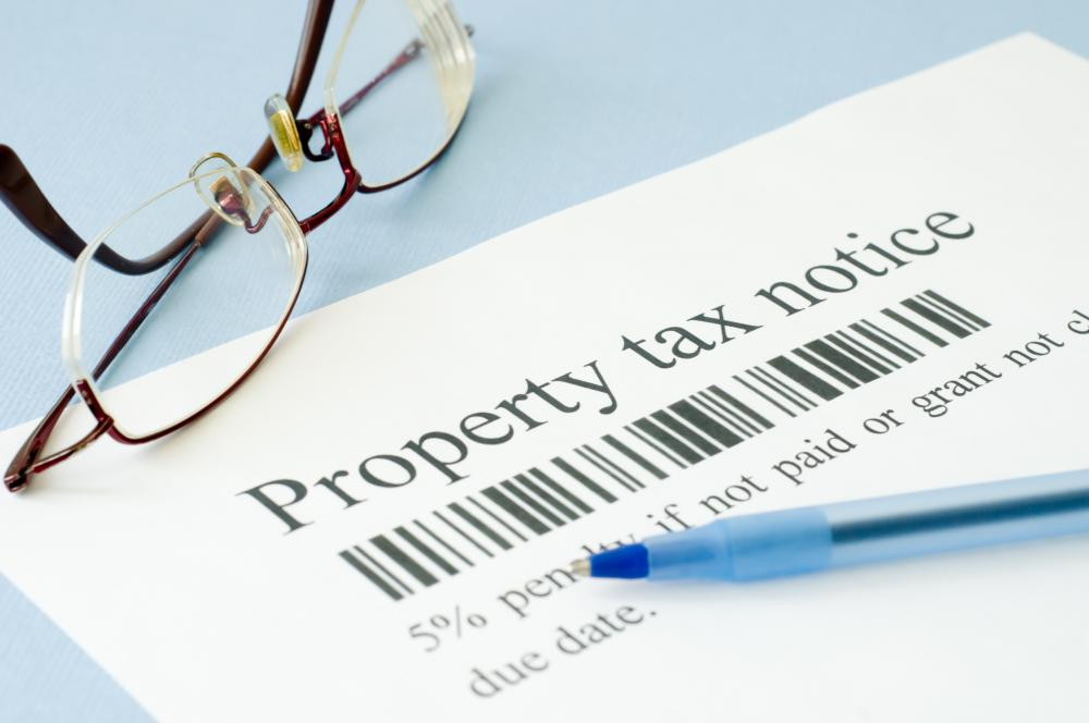 Property tax payments often are due annually.