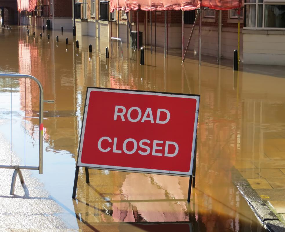 Pre-planned escape routes can be used to navigate around areas that have been hit by flash flooding.