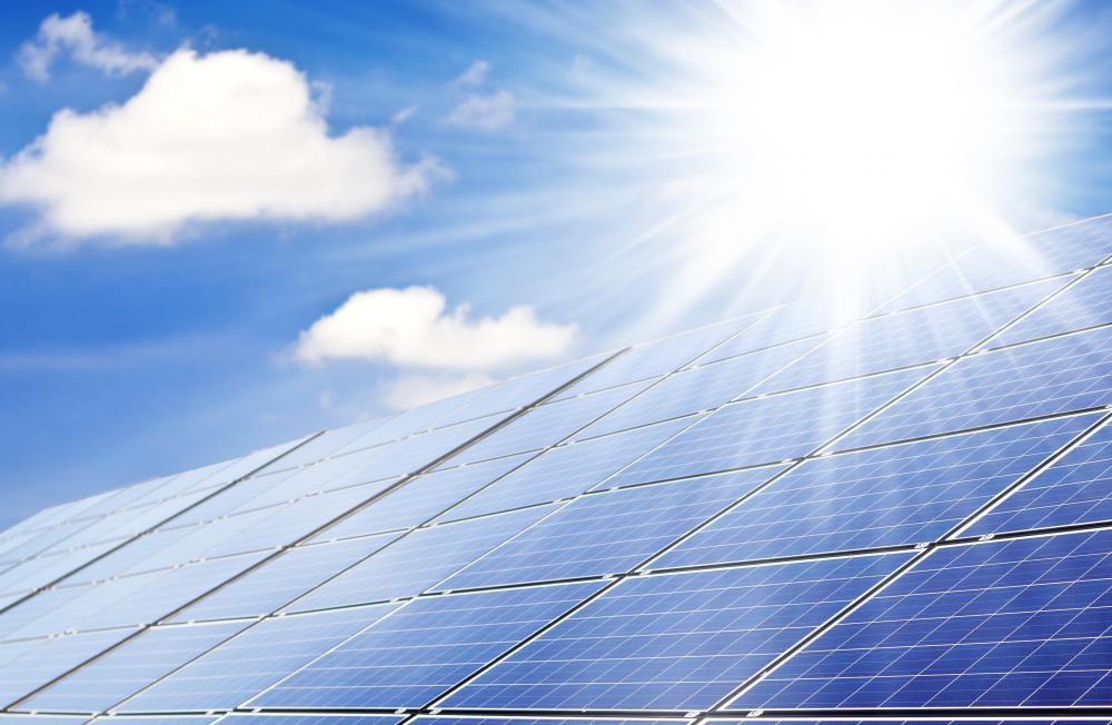 solar panels capture heat from the sun to provide power or hot water
