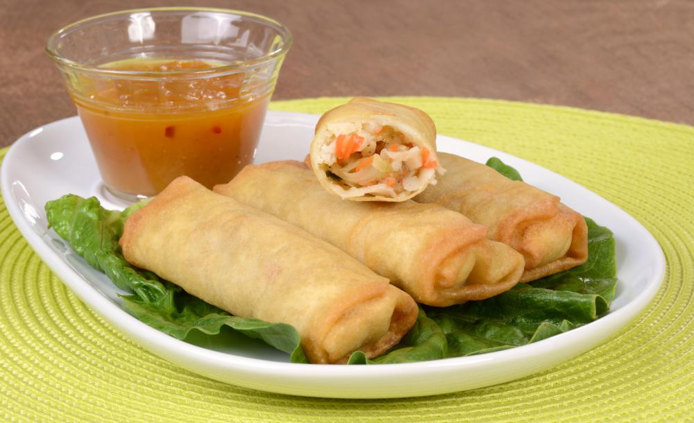 Spring Roll Filling Needs To Be Small Enough Not To Tear The Wrapping