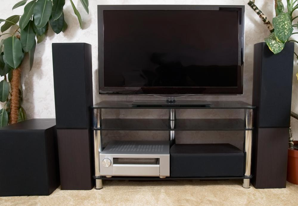 what are the different types of home theater supplies? home theater wiring components home theater supplies can include tvs and audio components, often grouped together in an entertainment center or stand