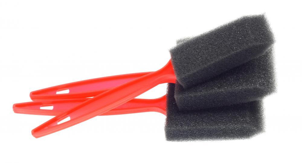 sponge brush. sponge brushes are inexpensive and disposable. brush s