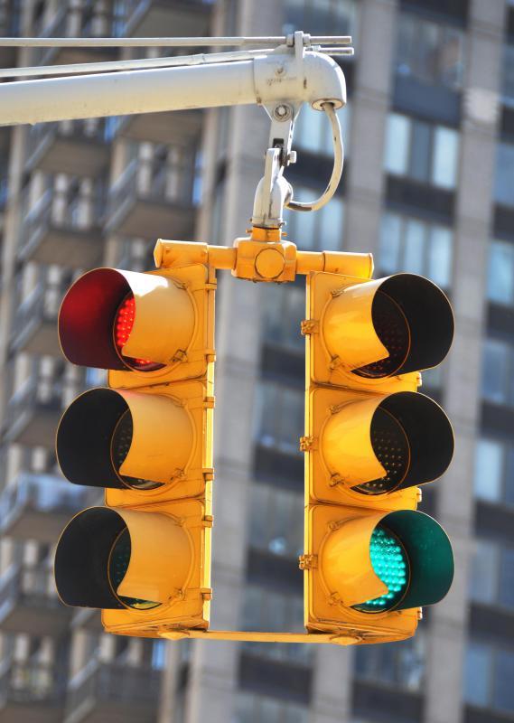 Traffic signals use LED technology.