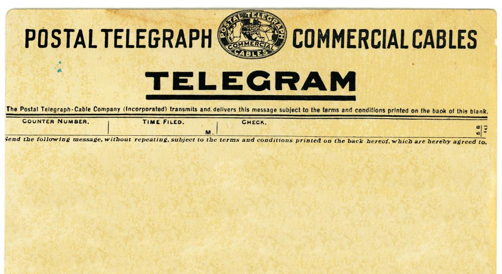 Write a telegram