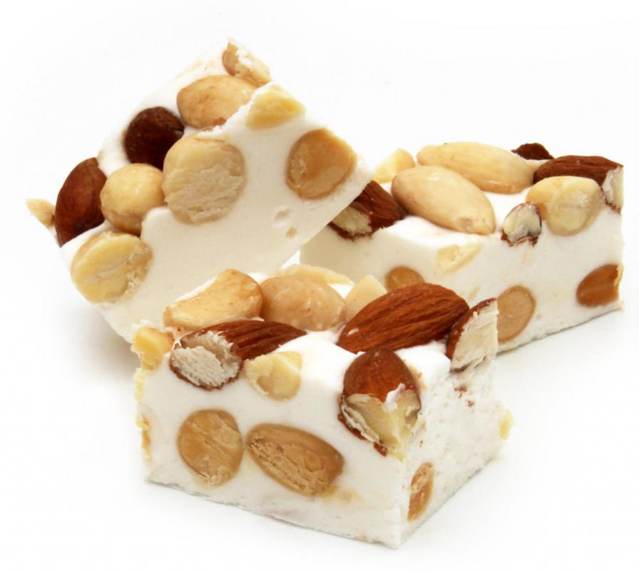 Nut And Cherry Nougat Recipe — Dishmaps