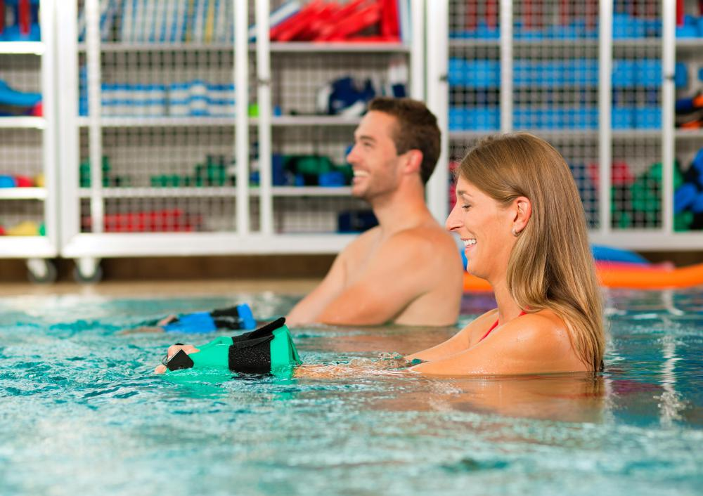 Weights Help Add Resistance To Pool Workouts