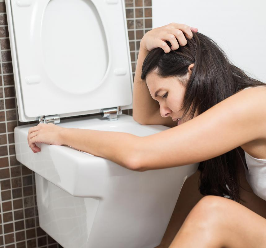 A digestive system perforation can cause coffee ground vomiting.