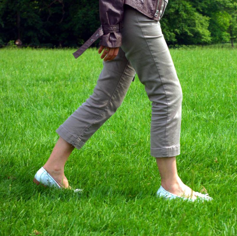 woman walking in grass - photo #28
