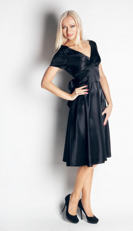 Amazing Beautiful Black Woman Wearing A Black Dress Royalty Free Stock Photo