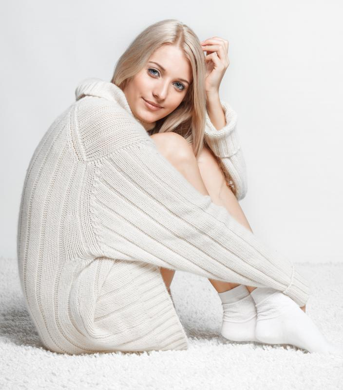 Cashmere is a popular fabric for making cardigan. - What Is A Cardigan? (with Pictures)