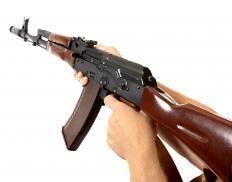 Bakelite may be used in machine gun parts.