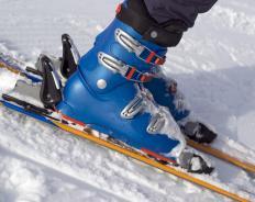 Some adventure travel tours involve skiing.