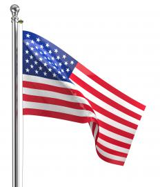 The American flag should never be permitted to touch the ground.