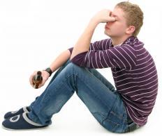 A drunk teen.