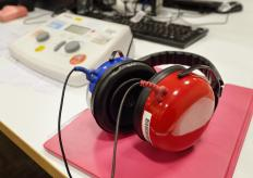 An audiometer is used by audiologists and ear, nose and throat doctors to measure the acuity of hearing.