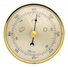 Analog barometer.