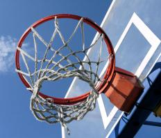 Basketball basket.