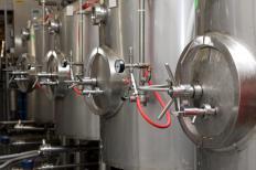 Tanks for fermenting beer.