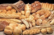 Bread in a vegan bakery.