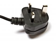 230 volt grounded British plug.