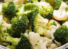 Broccoli and cauliflower are high in fiber.