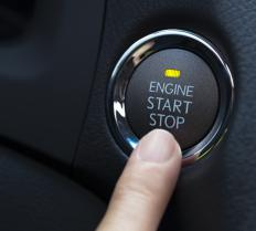 A car key or ignition button is the first step in the ignition process.