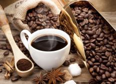 Ciprofloxacin should not be taken with caffeine.
