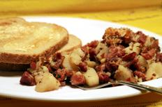 Bully beef can be combined with potatoes to form a hash.