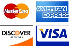Credit card logos.