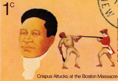 Crispus Attucks was the first black man to fight for the independence of America from the hands of the British.