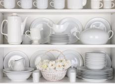 Porcelain dinnerware is available in all kinds of shapes and patterns.