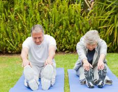 Some seniors enjoy yoga.