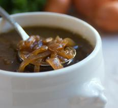Spring onions can be used for a mild French onion soup.